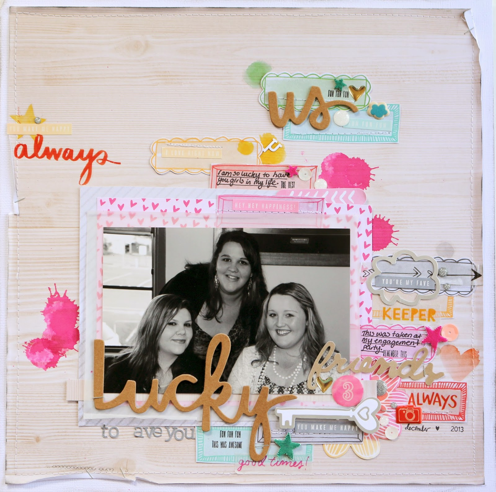 Lucky (Friends) ~ 12×12 Layout