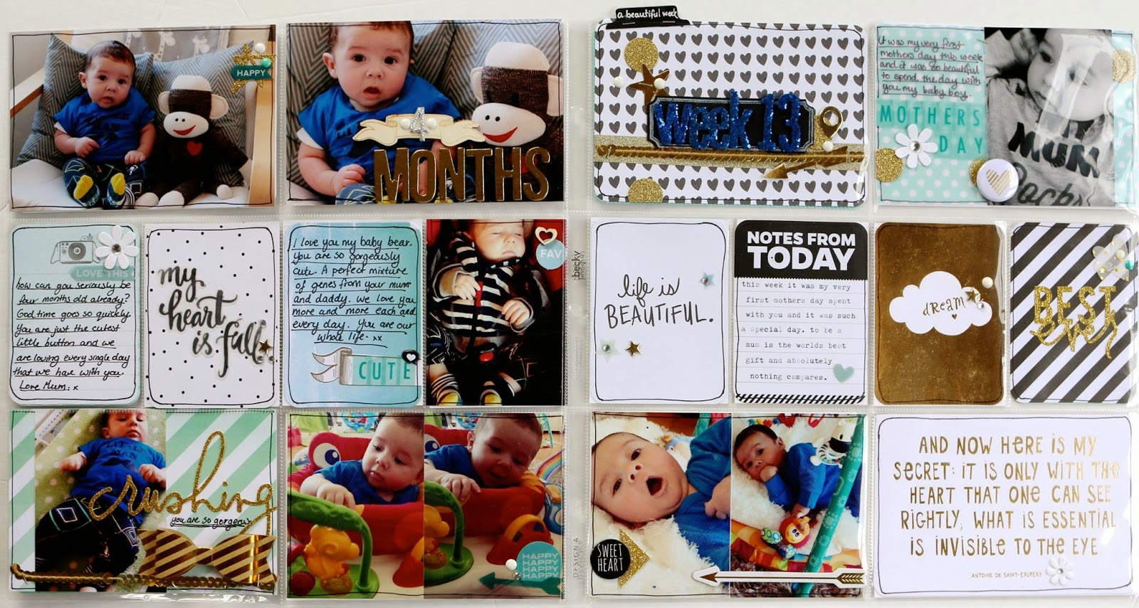 Project Life 2014 Catch Up ~ Week 13