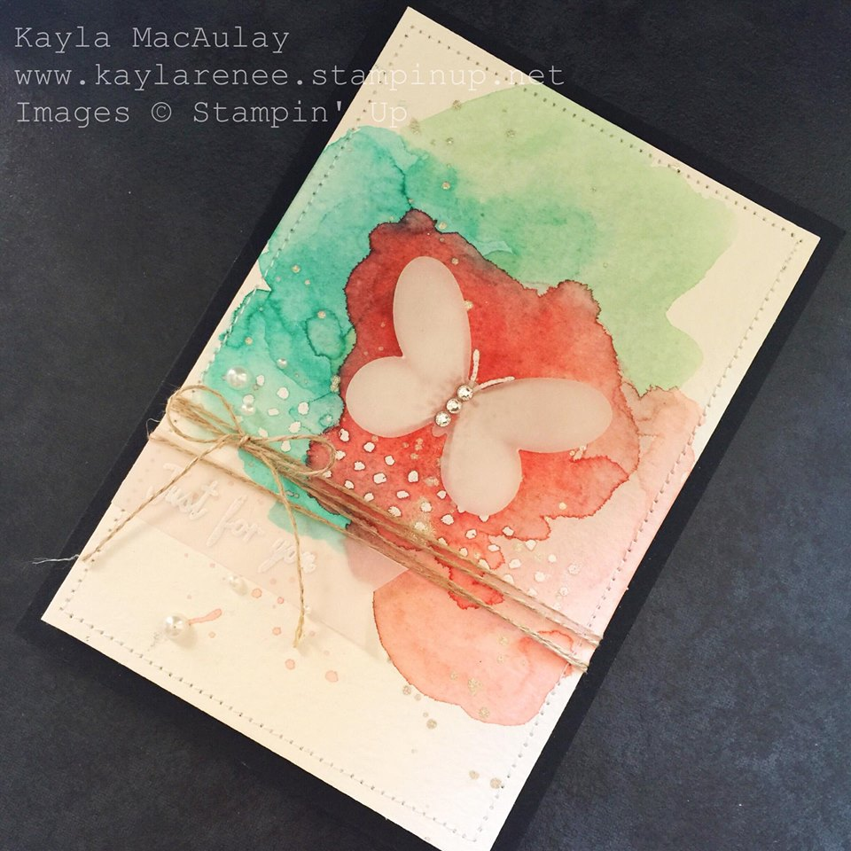 Just For You ~ Watercolour Card