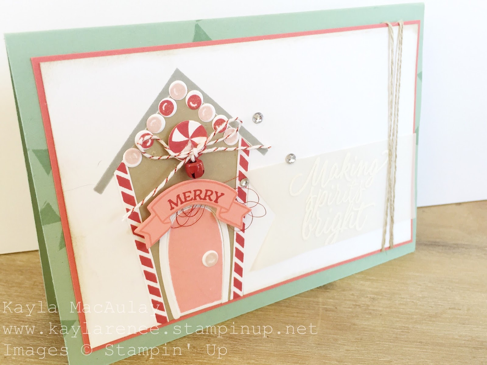 Wrapped up Wednesday ~ Making Spirits Bright Christmas Card