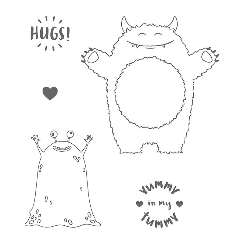 HUGS ~ Yummy in my Tummy Notecard Set