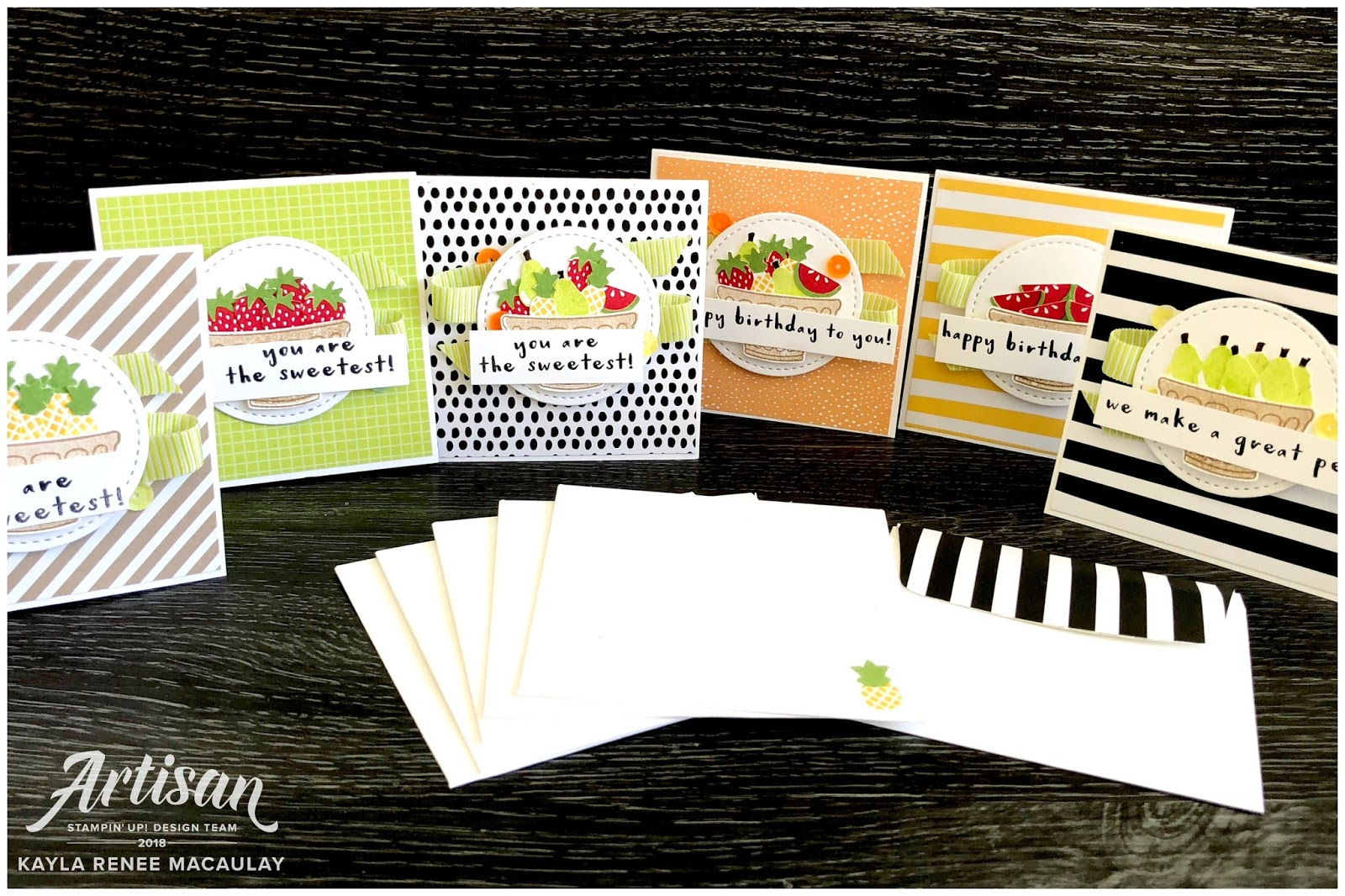 Little Notecards ~ Tutti Frutti Suite