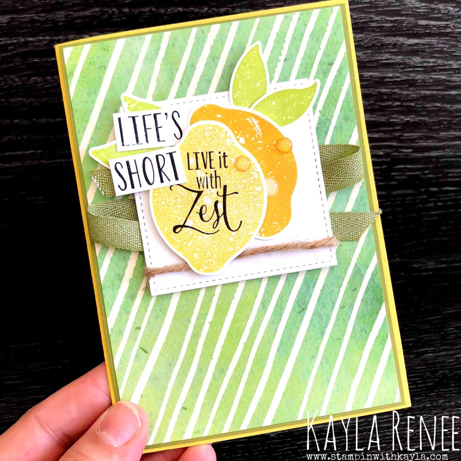 Life's Short Live it With Zest ~ Lemon Builder Bundle