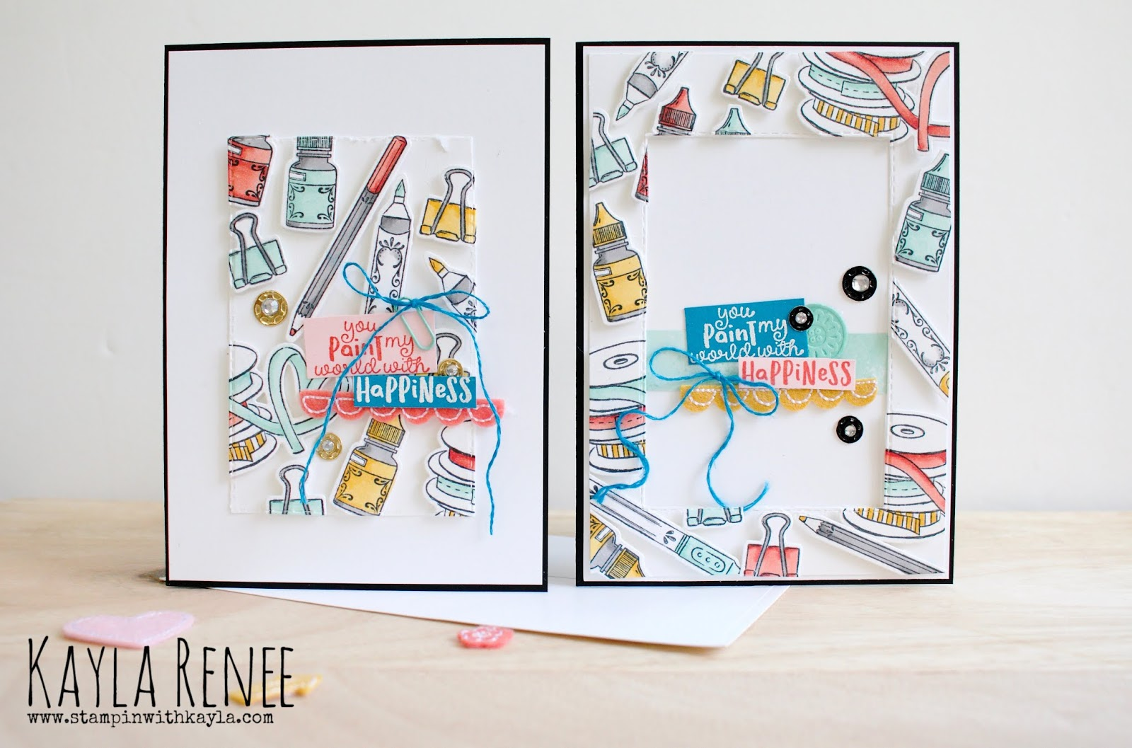 You Paint My World With Happiness ~ Floating Frame Cards