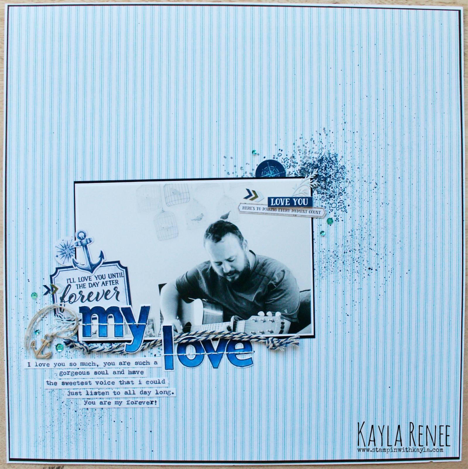 My Lover ~ Scrapbook Page