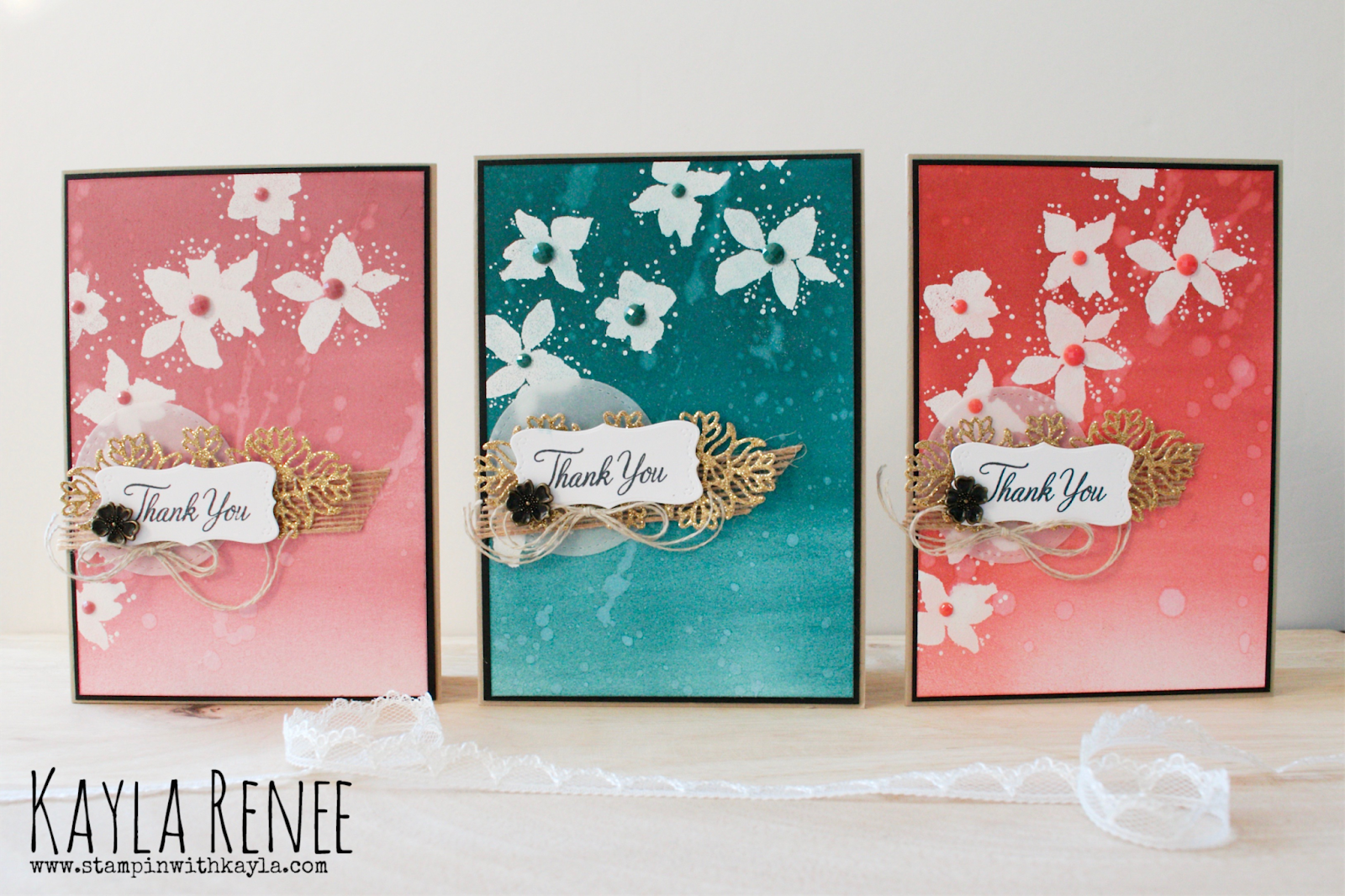 Parcels & Petals on In Colours ~ Thank You Cards
