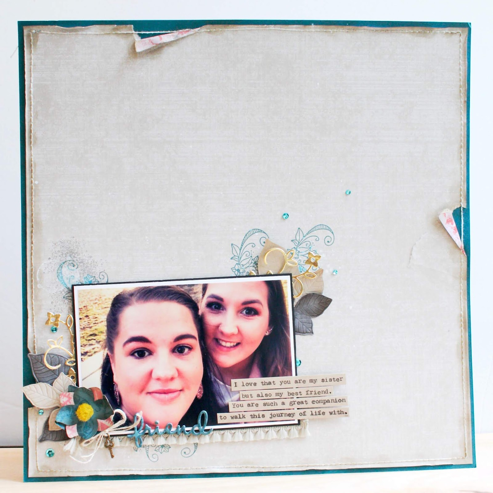 Woven Threads ~ Sisters Scrapbook Page