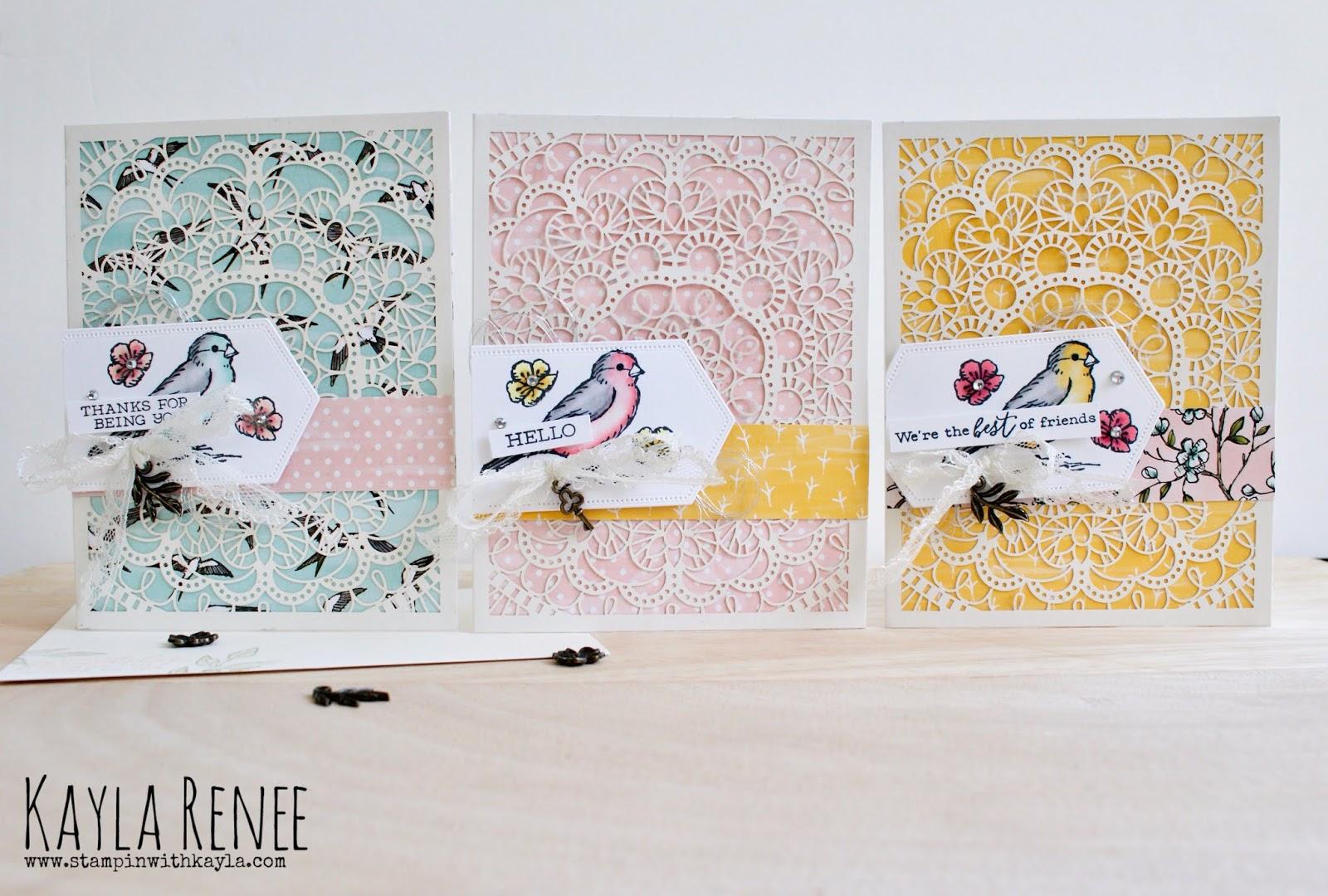 Bird Ballad ~ Laser Cut Notecards