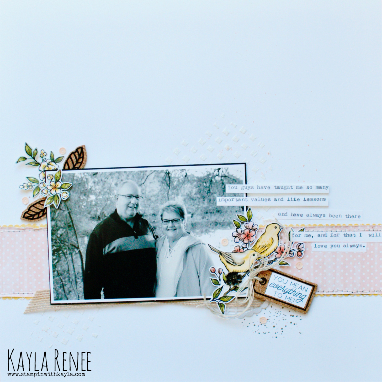 You Mean Everything To Me ~ Scrapbook Page