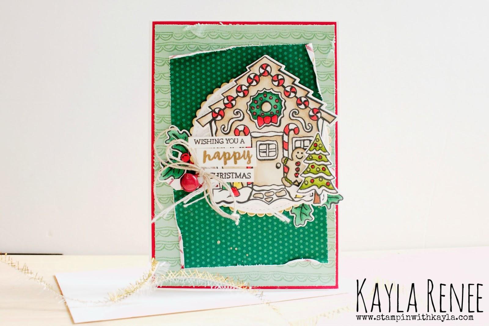 Yummy Christmas ~ Gingerbread House Card