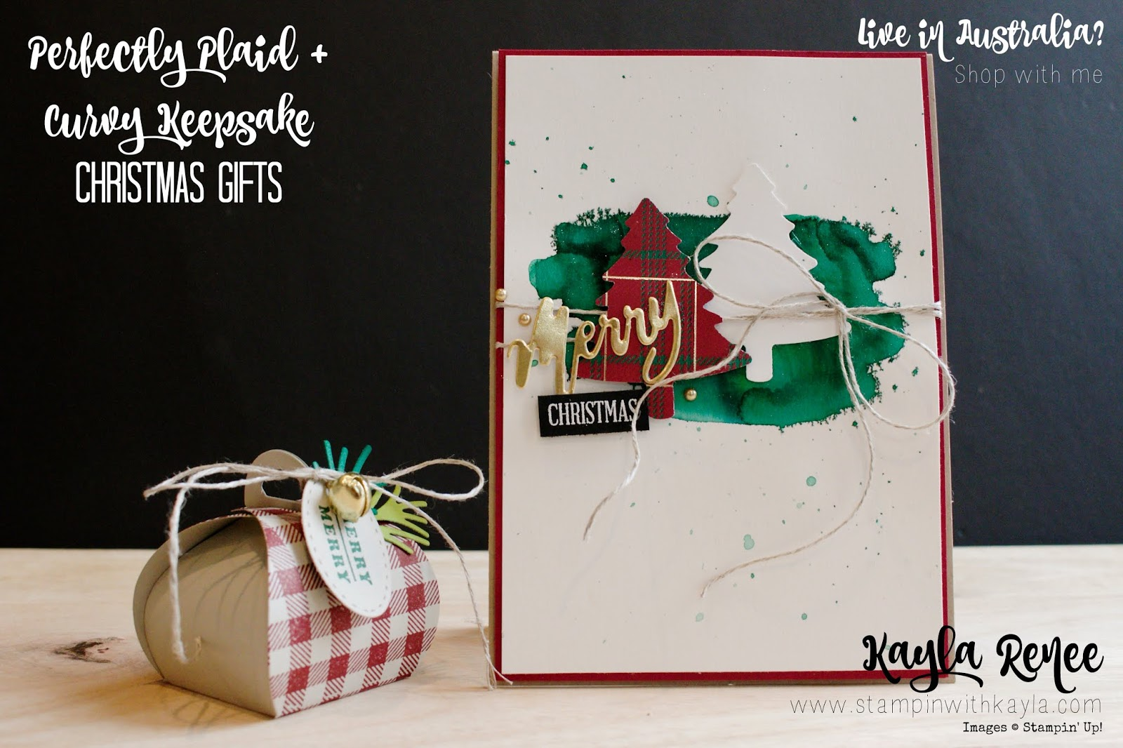Perfectly Plaid + Curvy Keepsake ~ Quick & Easy Christmas Gifts