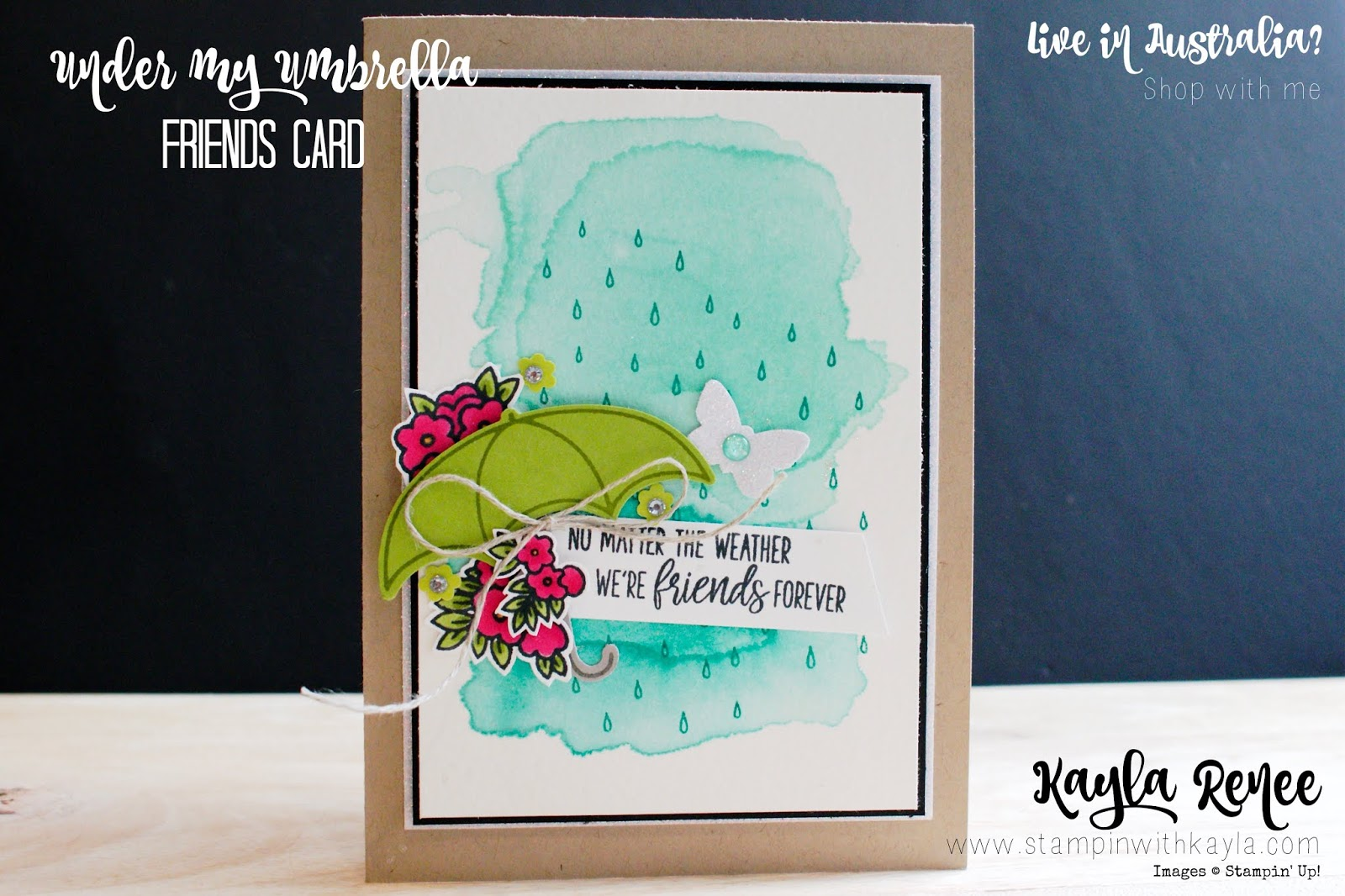 Under my Umbrella ~ Friendship Card