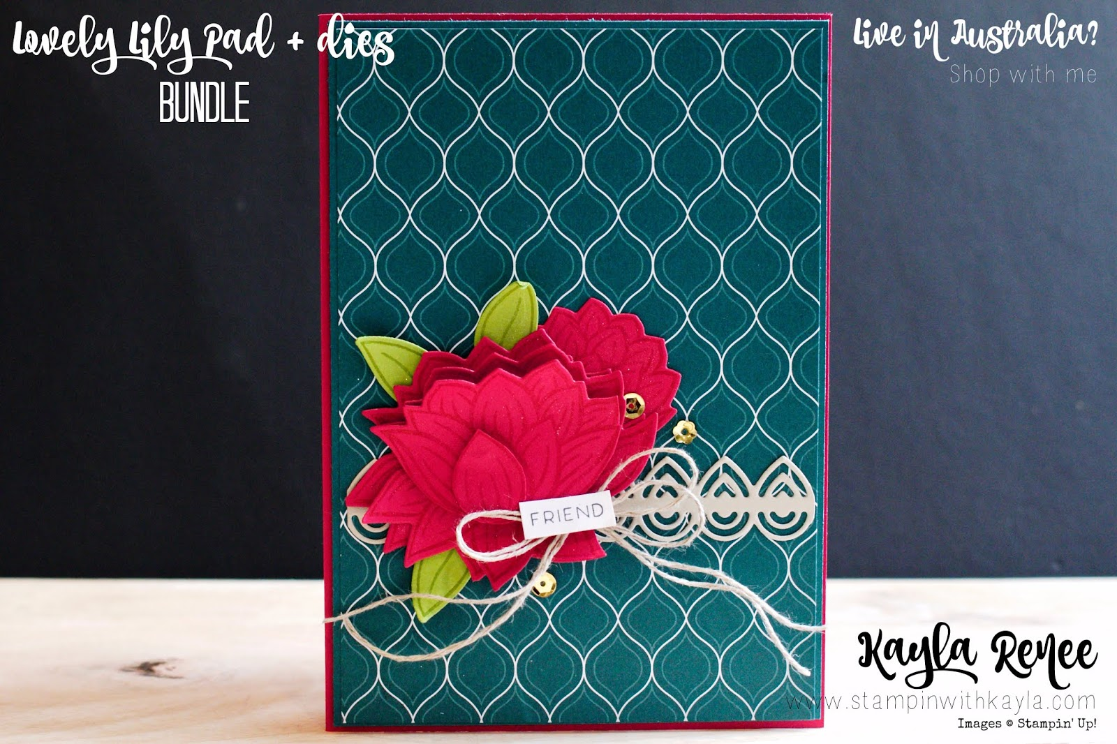 Lovely Lily Pad Stamp Set & Dies ~ SAB Freebies BLOG HOP