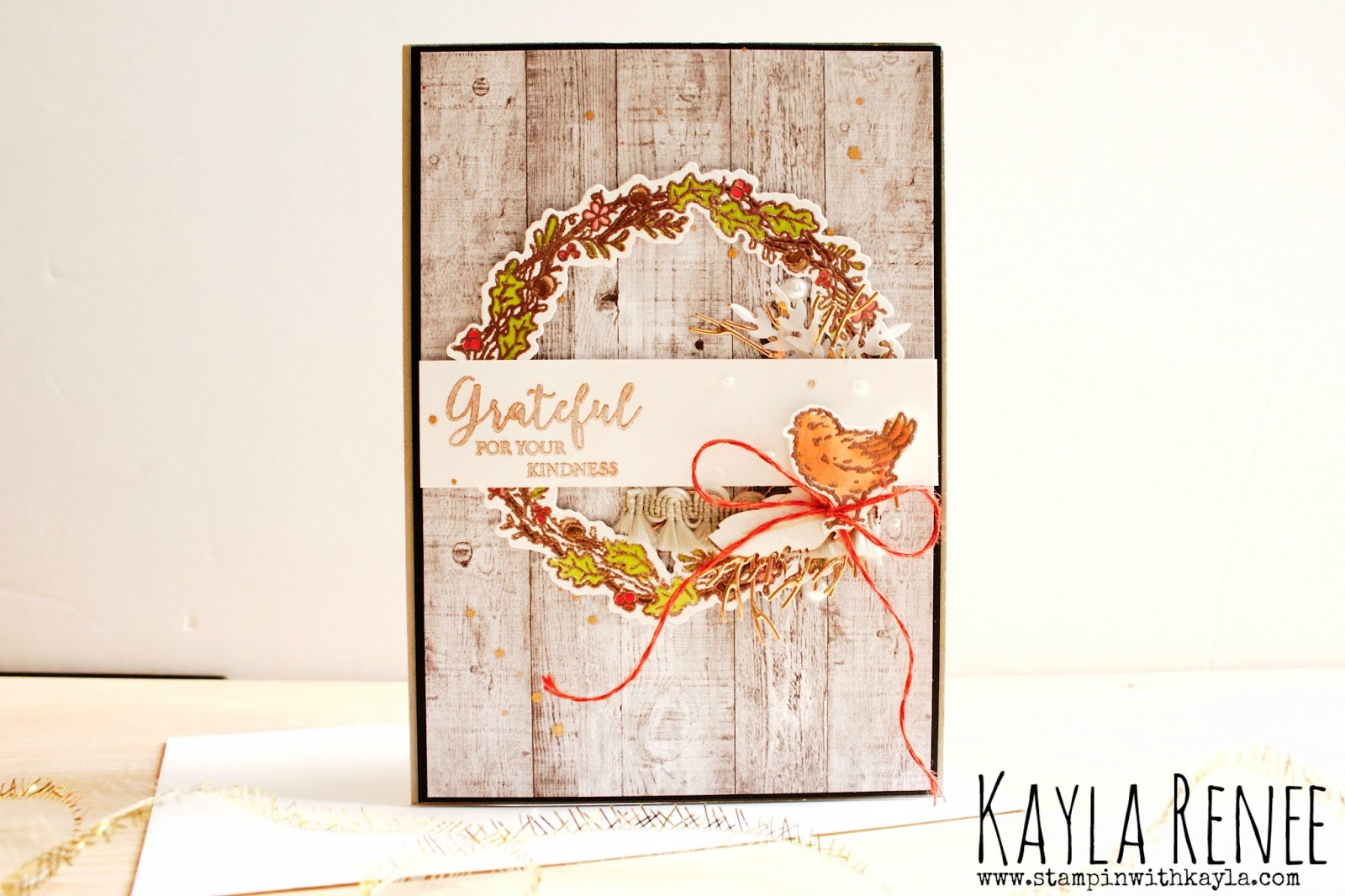 Seasonal Wreaths ~ Grateful Card