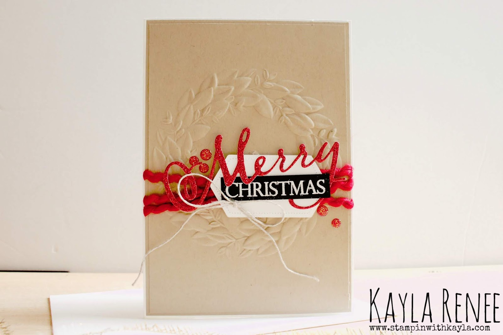 Seasonal Wreath ~ Merry Christmas Card