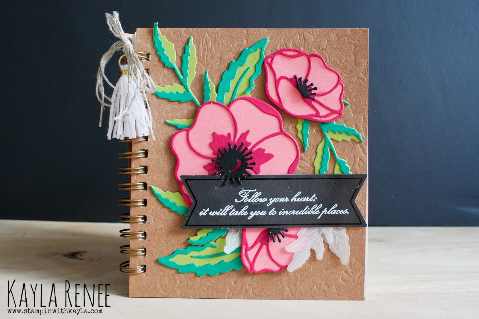 Pressed Petals ~ Peaceful Poppies Journal