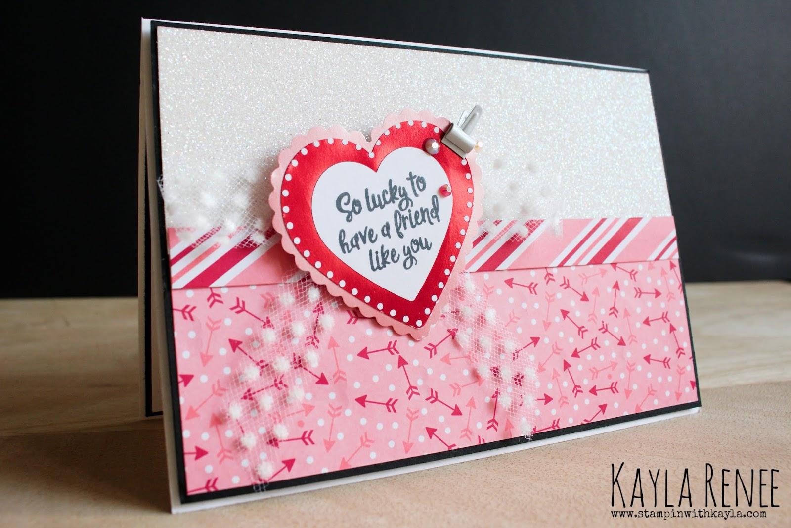 Heartfelt ~ Friendship Card ~ Ink + Inspiration Blog Hop