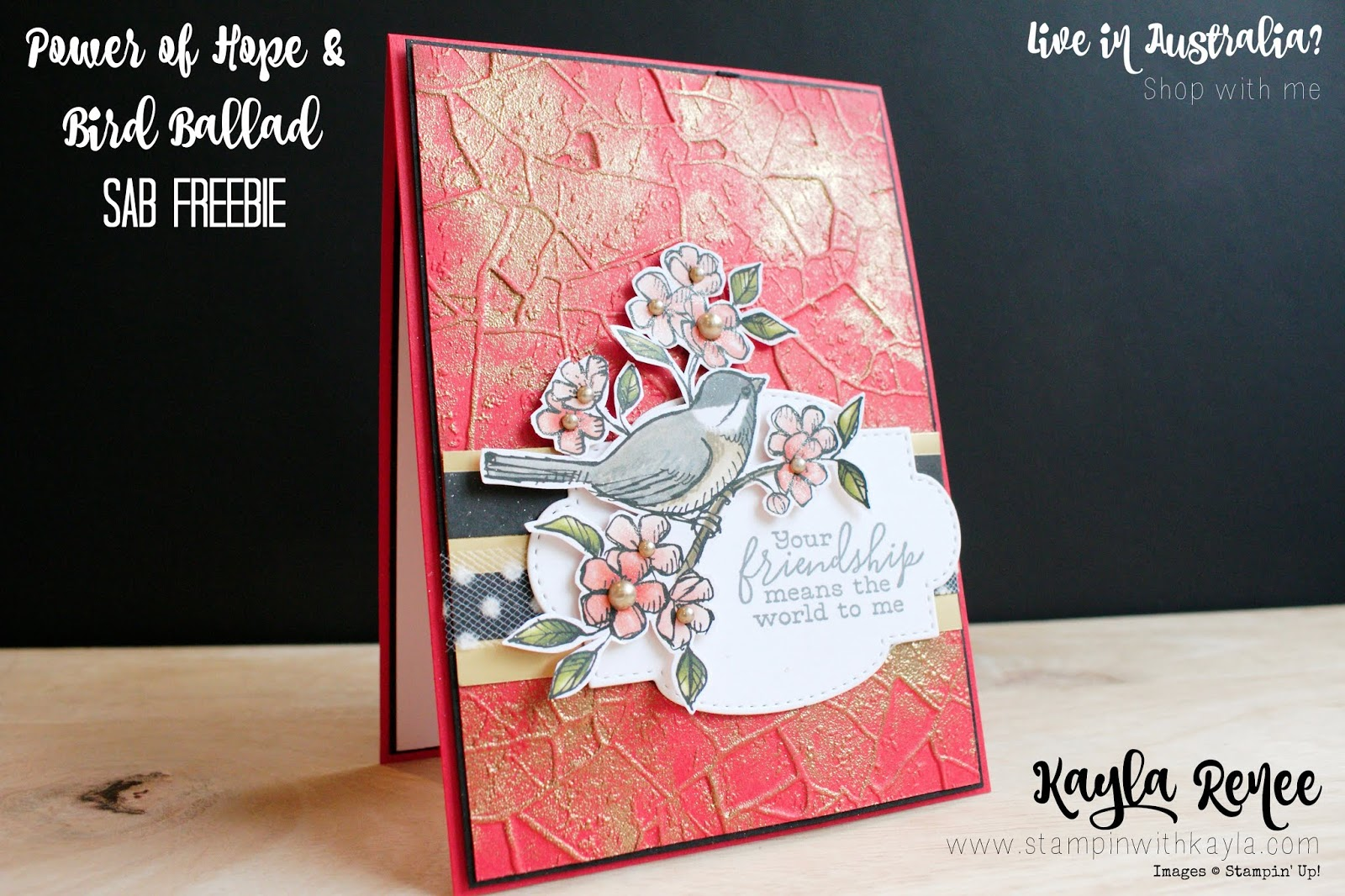 Bird Ballad & Power of Hope ~ Friendship Card