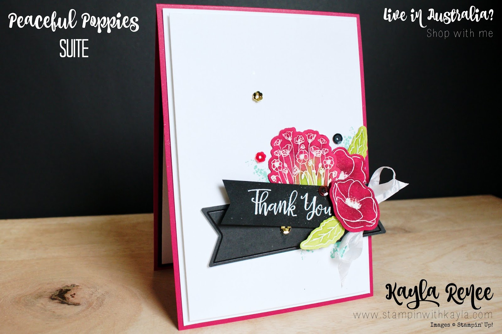 Peaceful Poppies Suite ~ Thank You Card