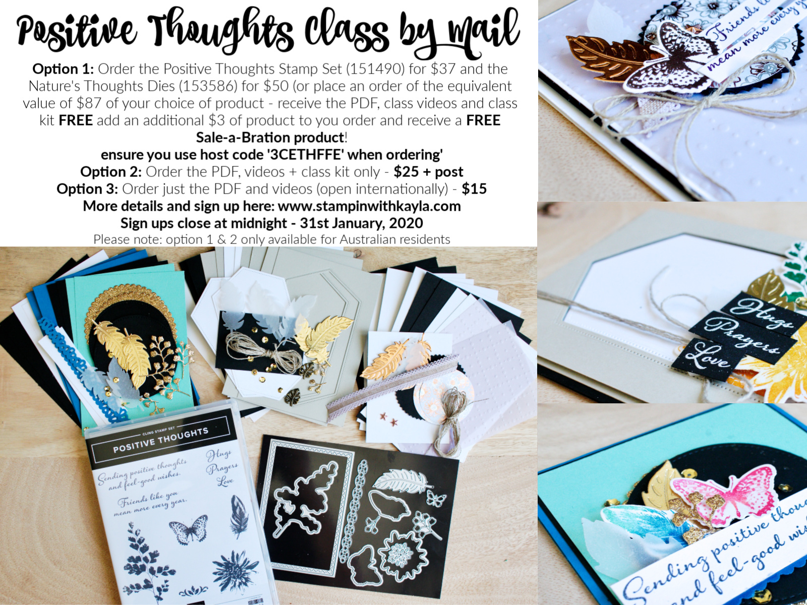 Positive Thoughts ~ Class by Mail/Online