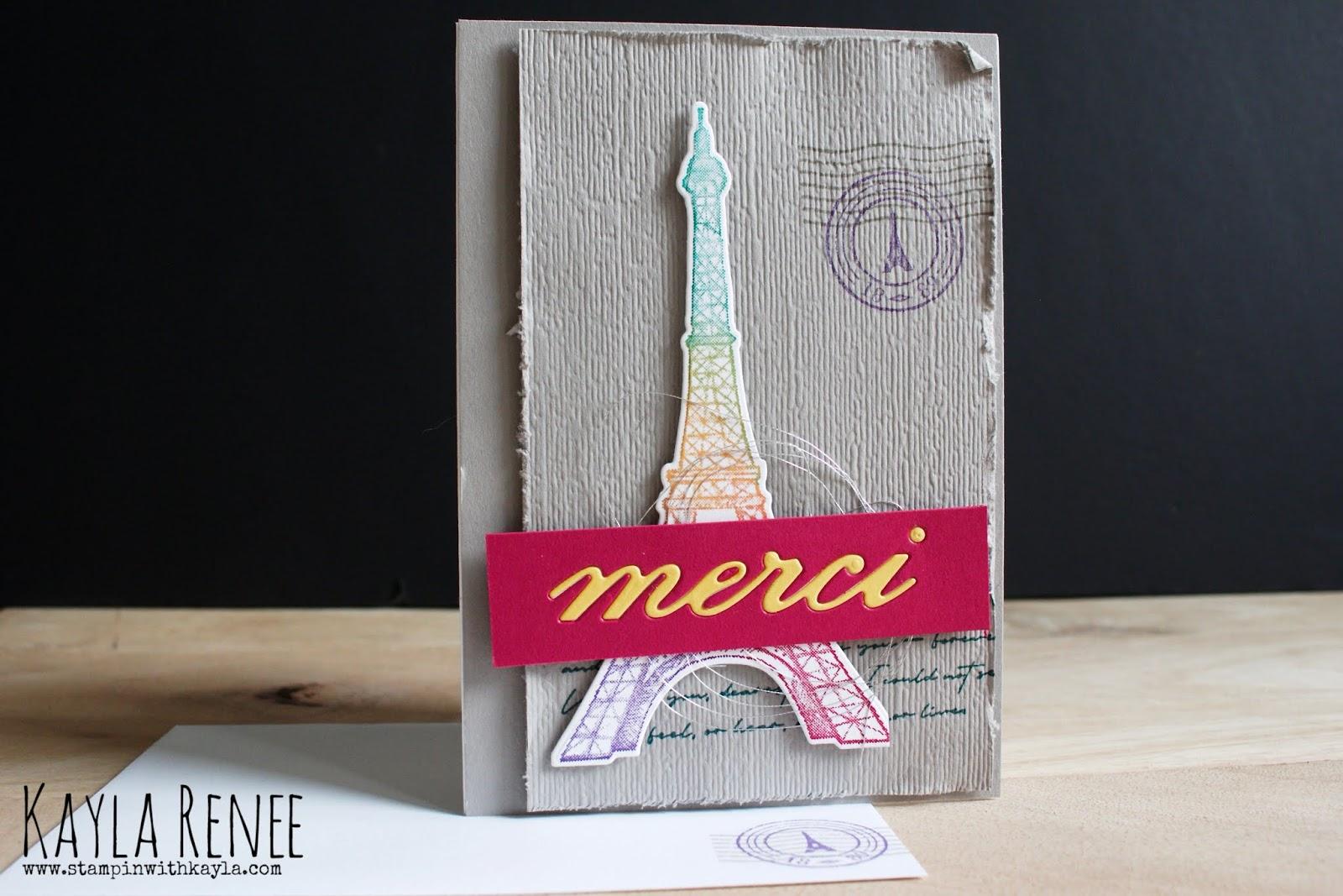 Parisian Beauty ~ Notecard