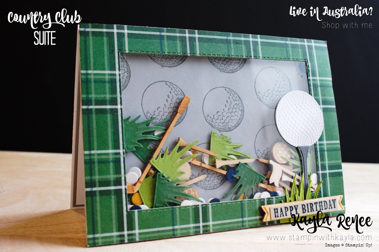 Country Club Suite ~ Shaker Birthday Card
