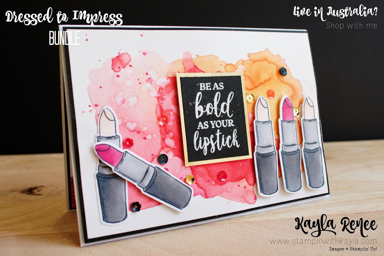 Dressed to Impress ~ Watercolour and Stampin' Blends ~ Ink + Inspiration Blog Hop