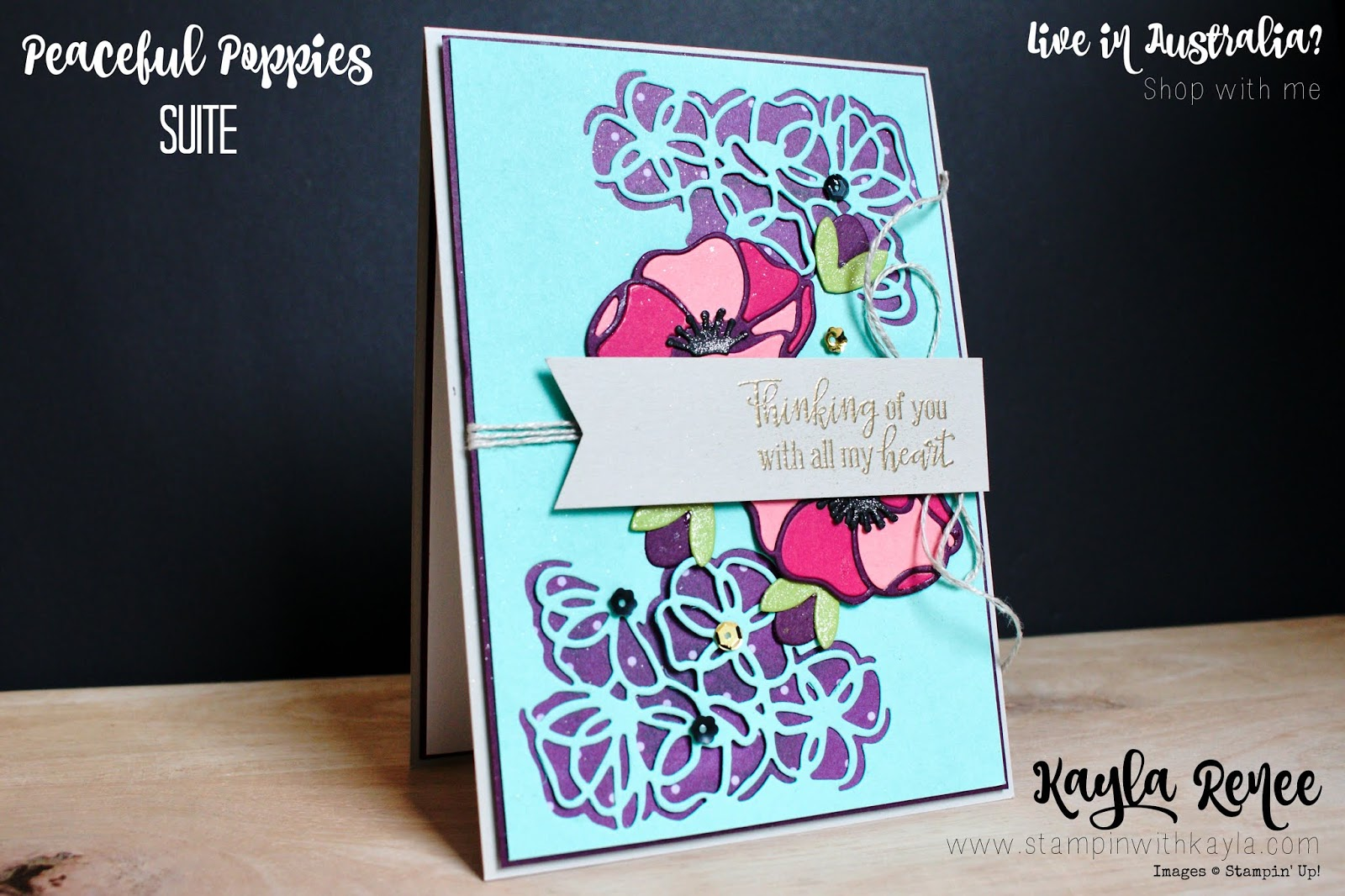 Peaceful Poppies Suite ~ Thinking of You Card