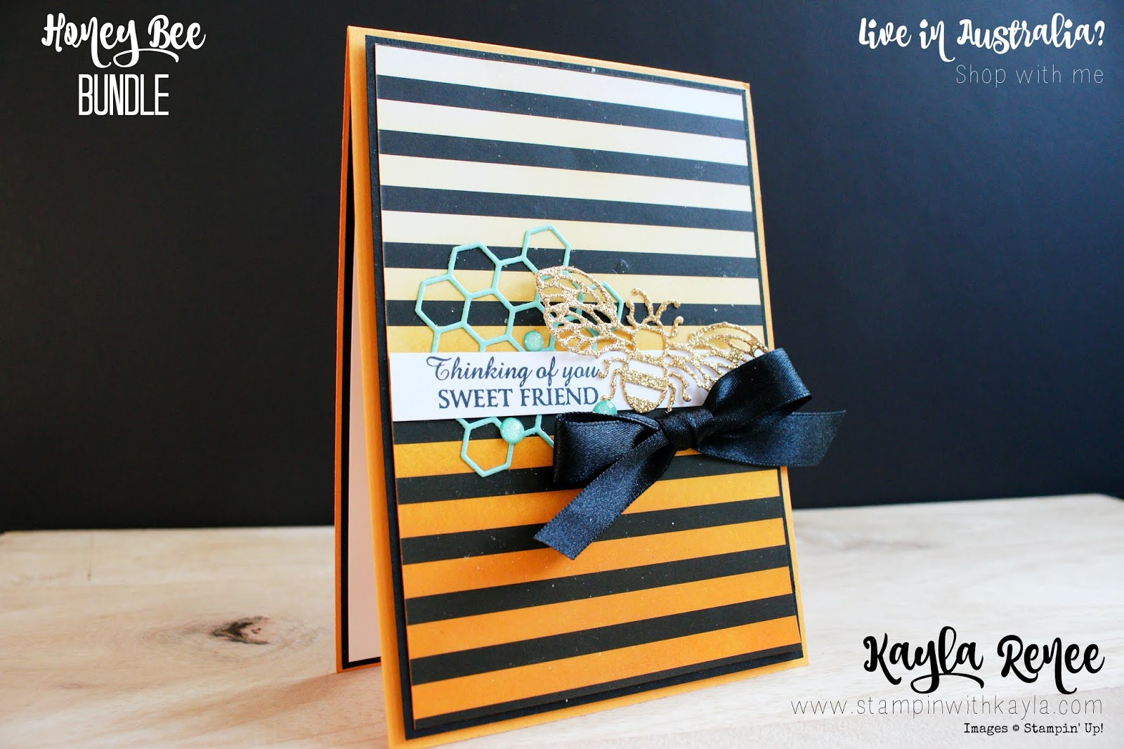 Honey Bee ~ Friendship Card