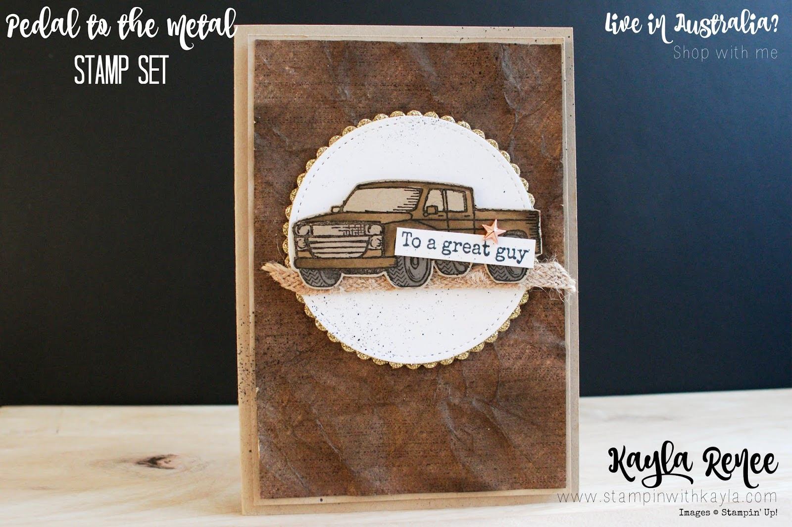 Pedal to the Metal ~ Masculine Card