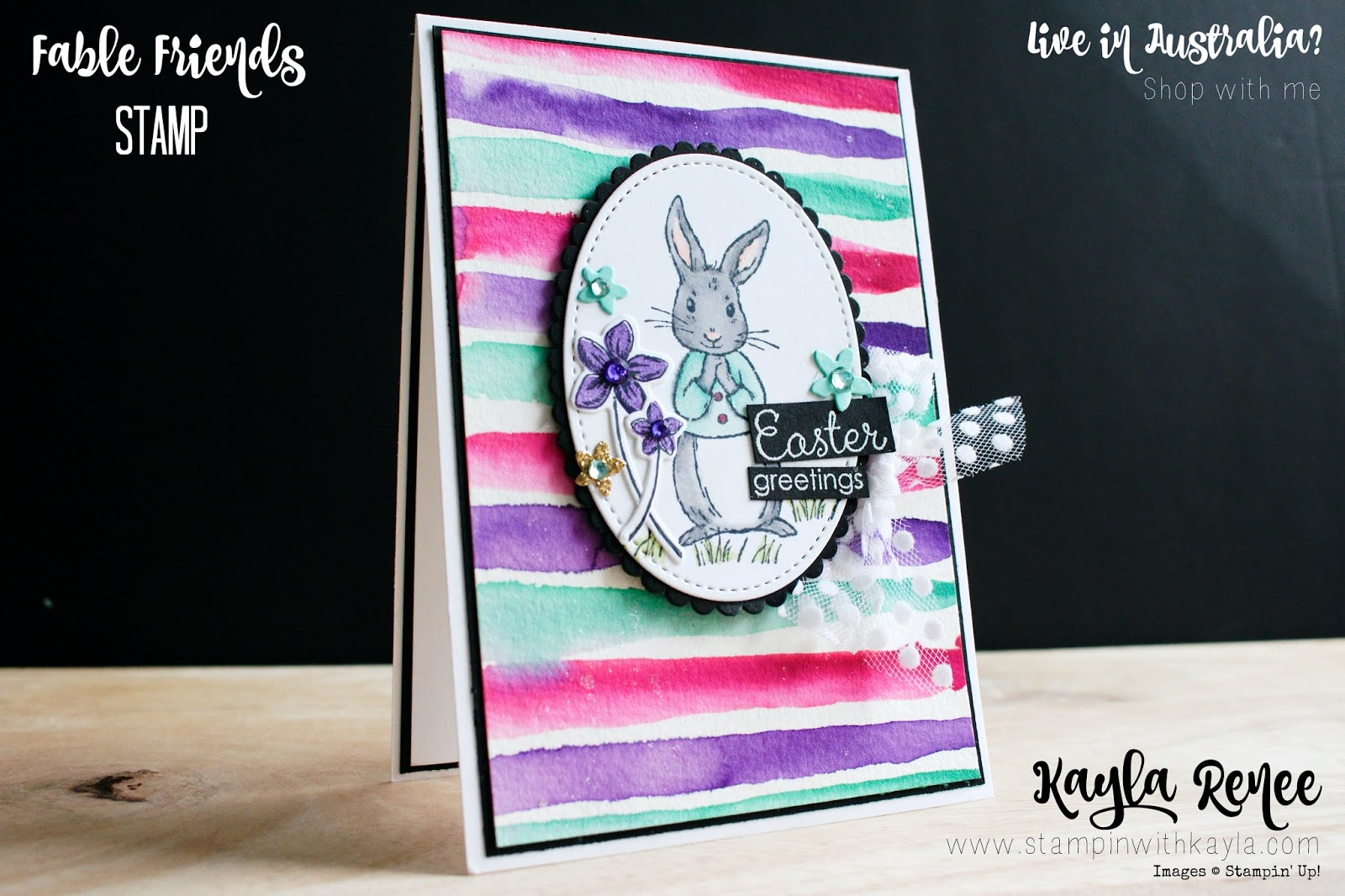 Fable Friends Watercoloured ~ Easter Card ~ Ink & Inspiration Blog Hop