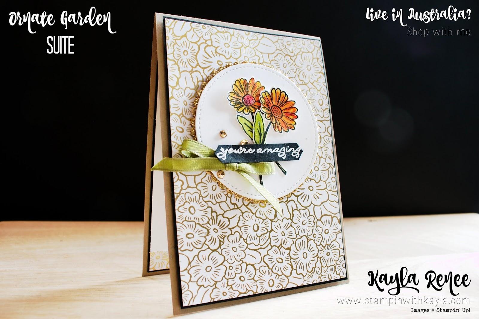 Ornate Garden ~ You're Amazing Card ~ International Highlights Winners Blog Hop