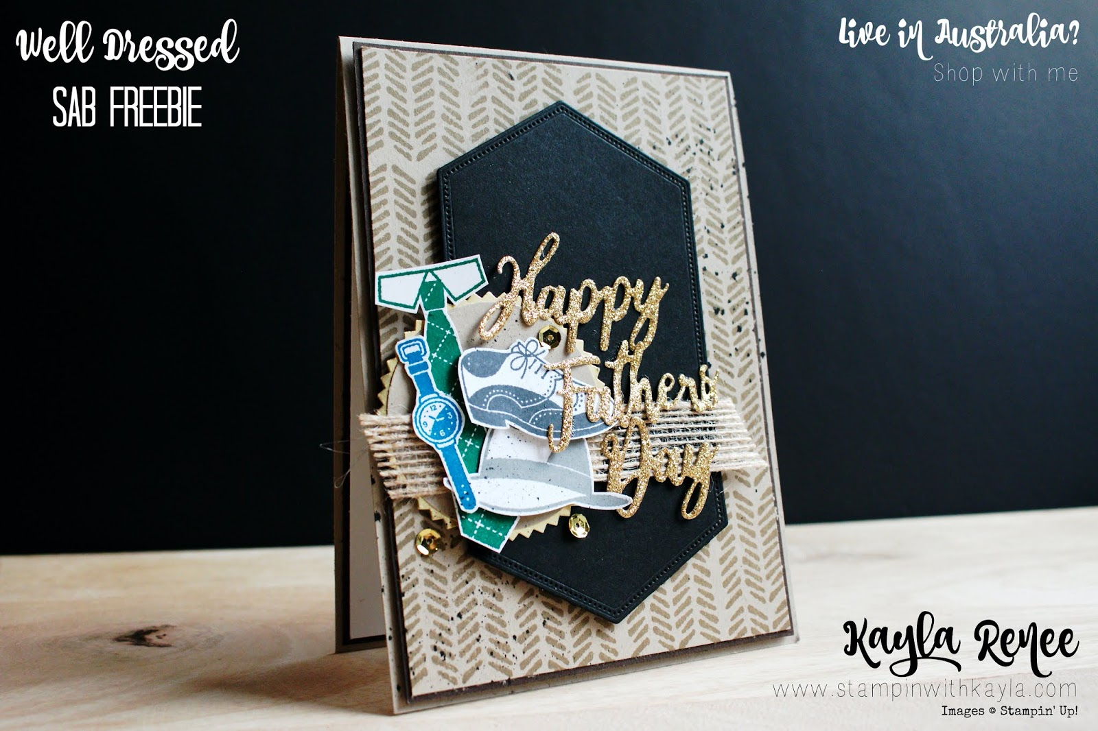 Well Dressed ~ Sale-a-Bration ~ Father's Day Card