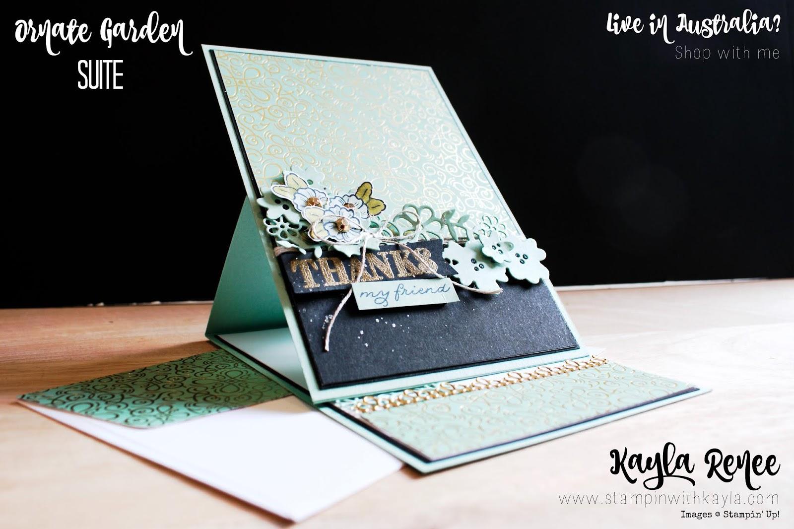 Stampin' Fancy Friday ~ Ornate Garden ~ Easel Card