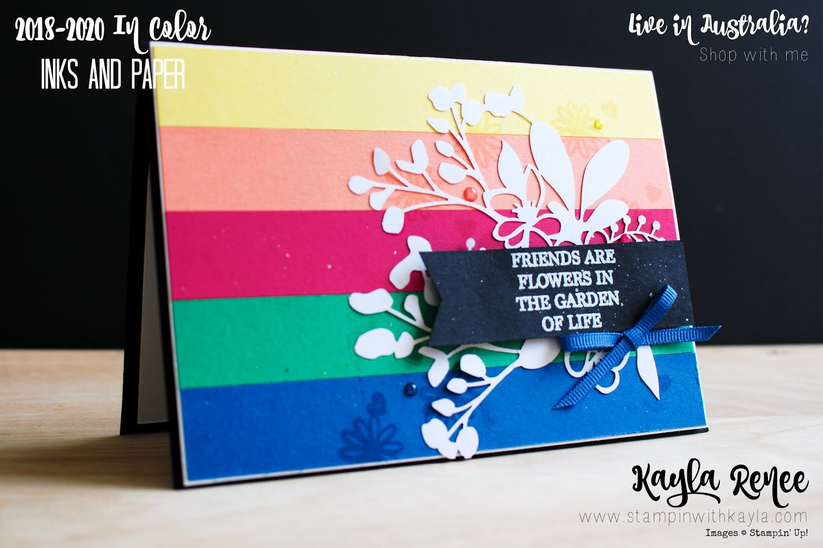 2018-2020 In Colors ~ Friendship Card