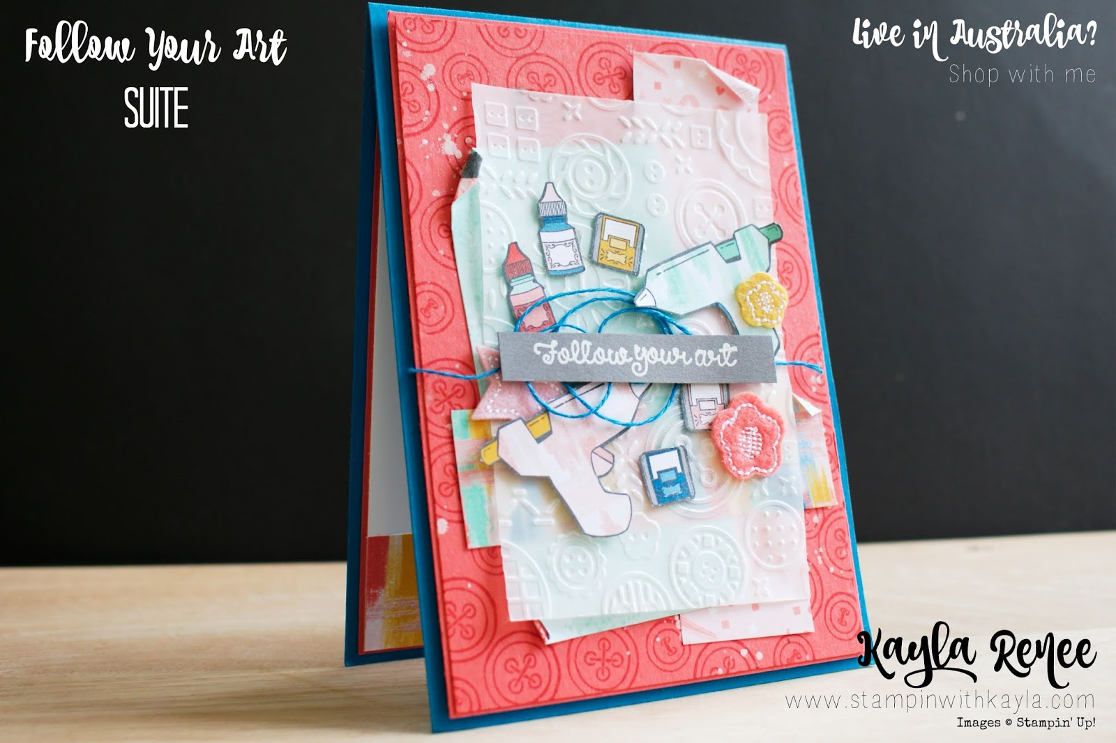 Follow Your Art  Suite ~ Layered Card