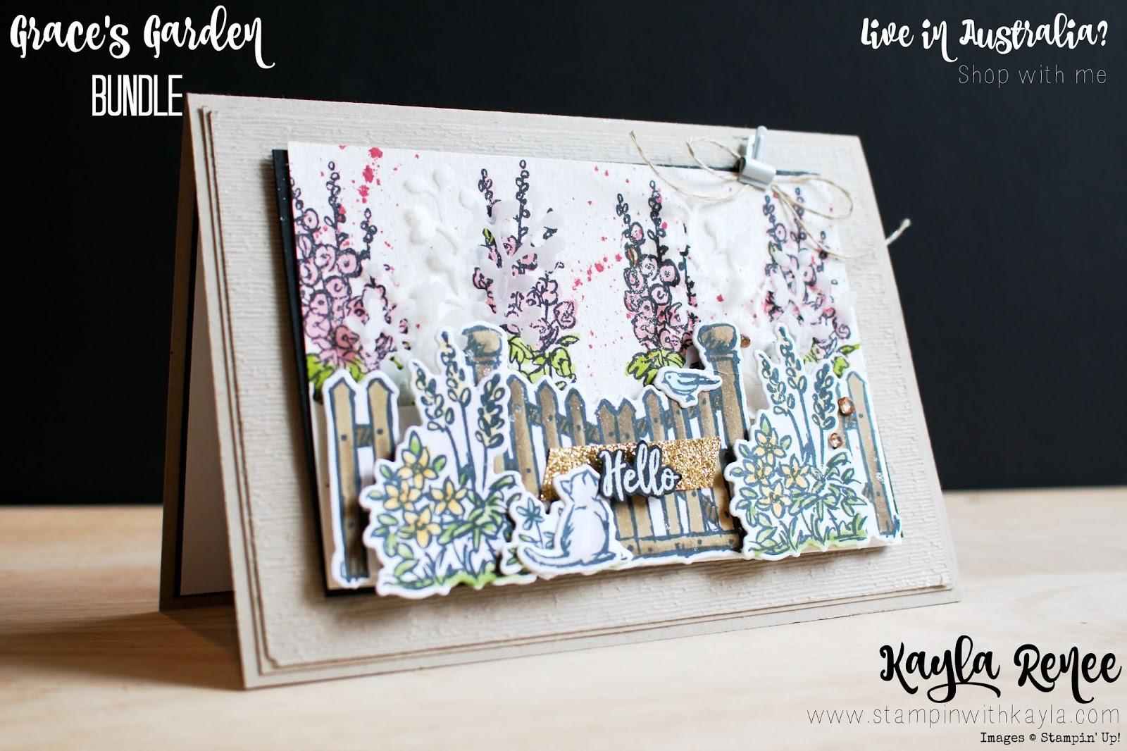 Grace's Garden ~ Hello Card