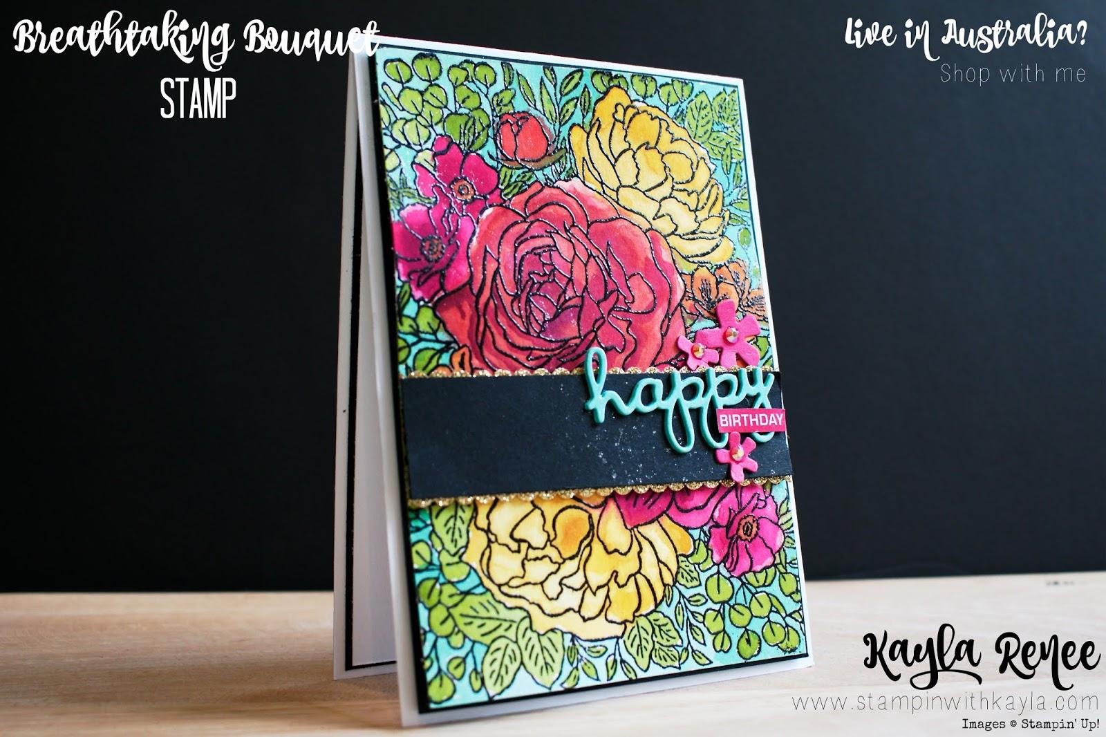 Breathtaking Bouquet ~ Happy Birthday Card