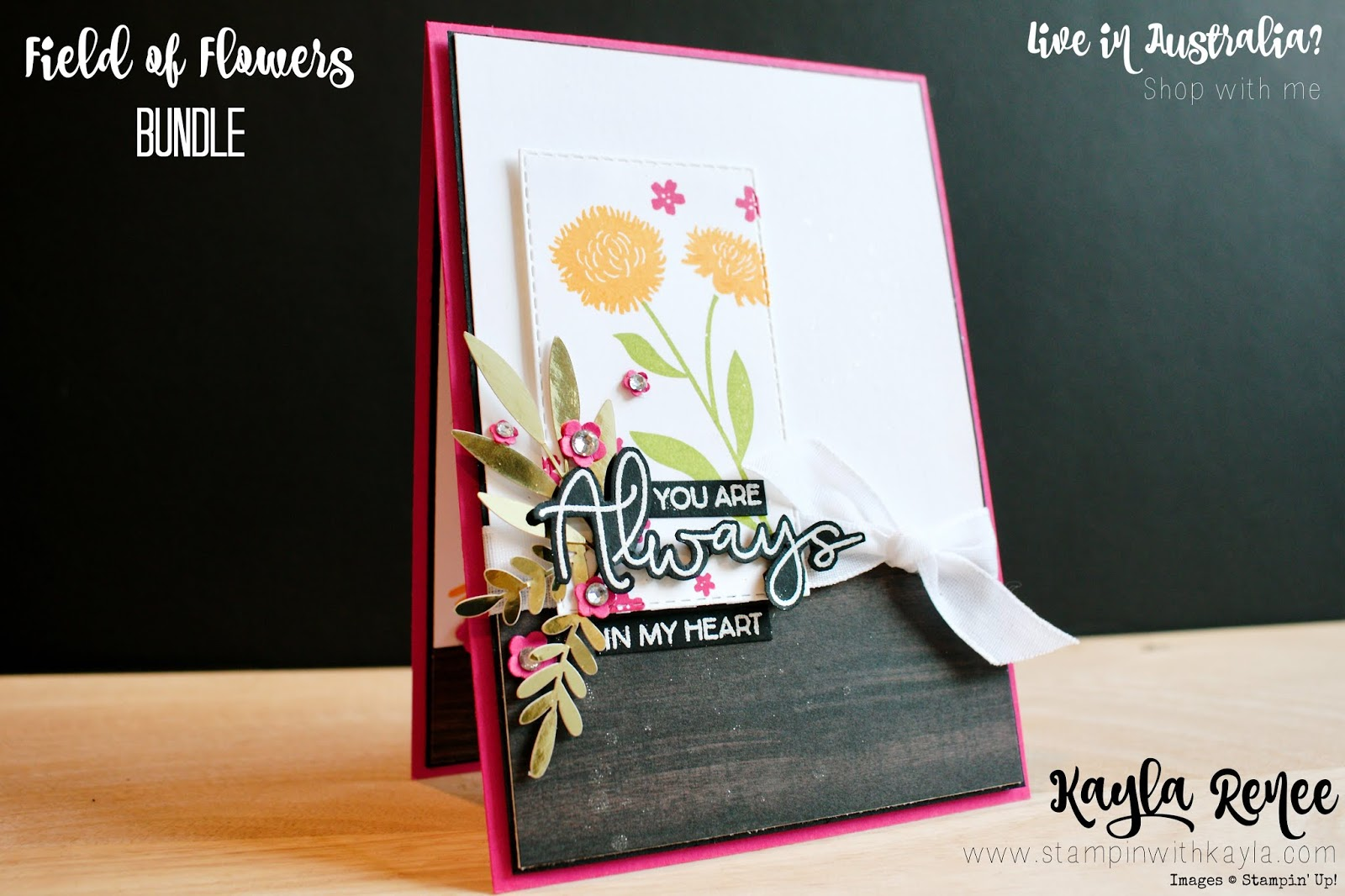 Field of Flowers ~ You Are Always in My Heart Card
