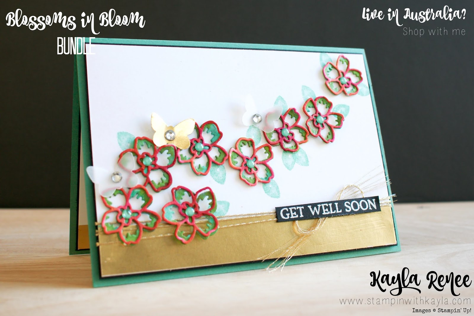 Stampin' Up! Blossoms in Bloom ~ Get Well Soon Card