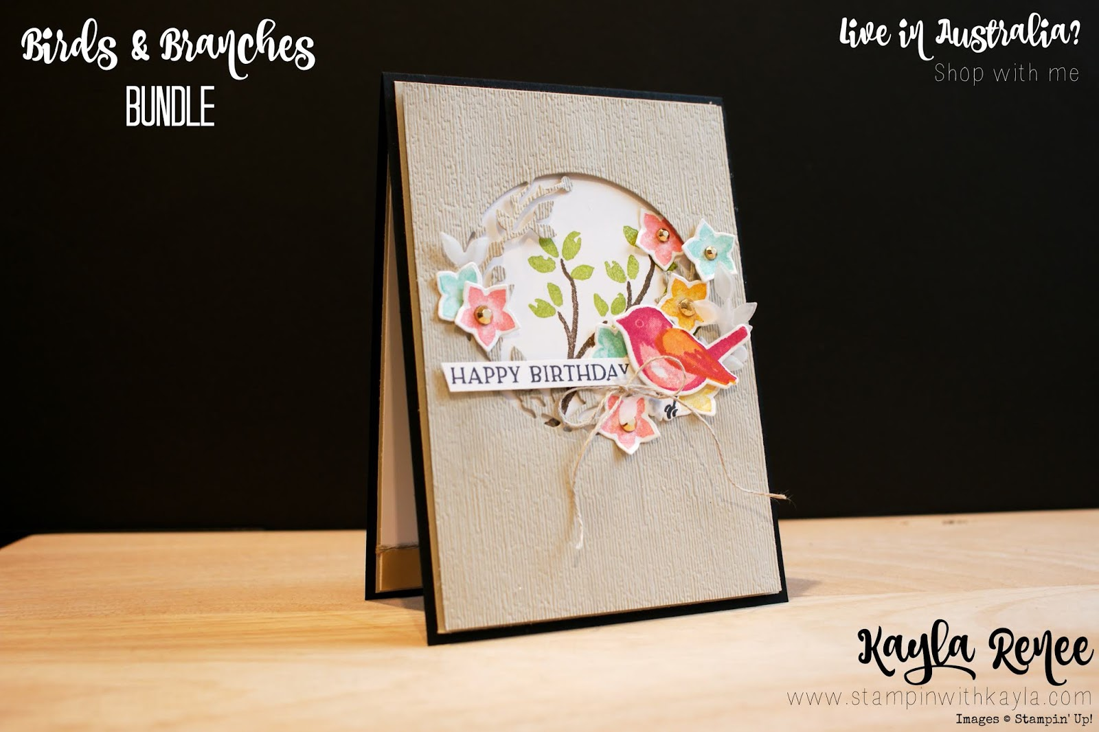 Stampin' Up! Birds & Branches ~ Happy Birthday Card
