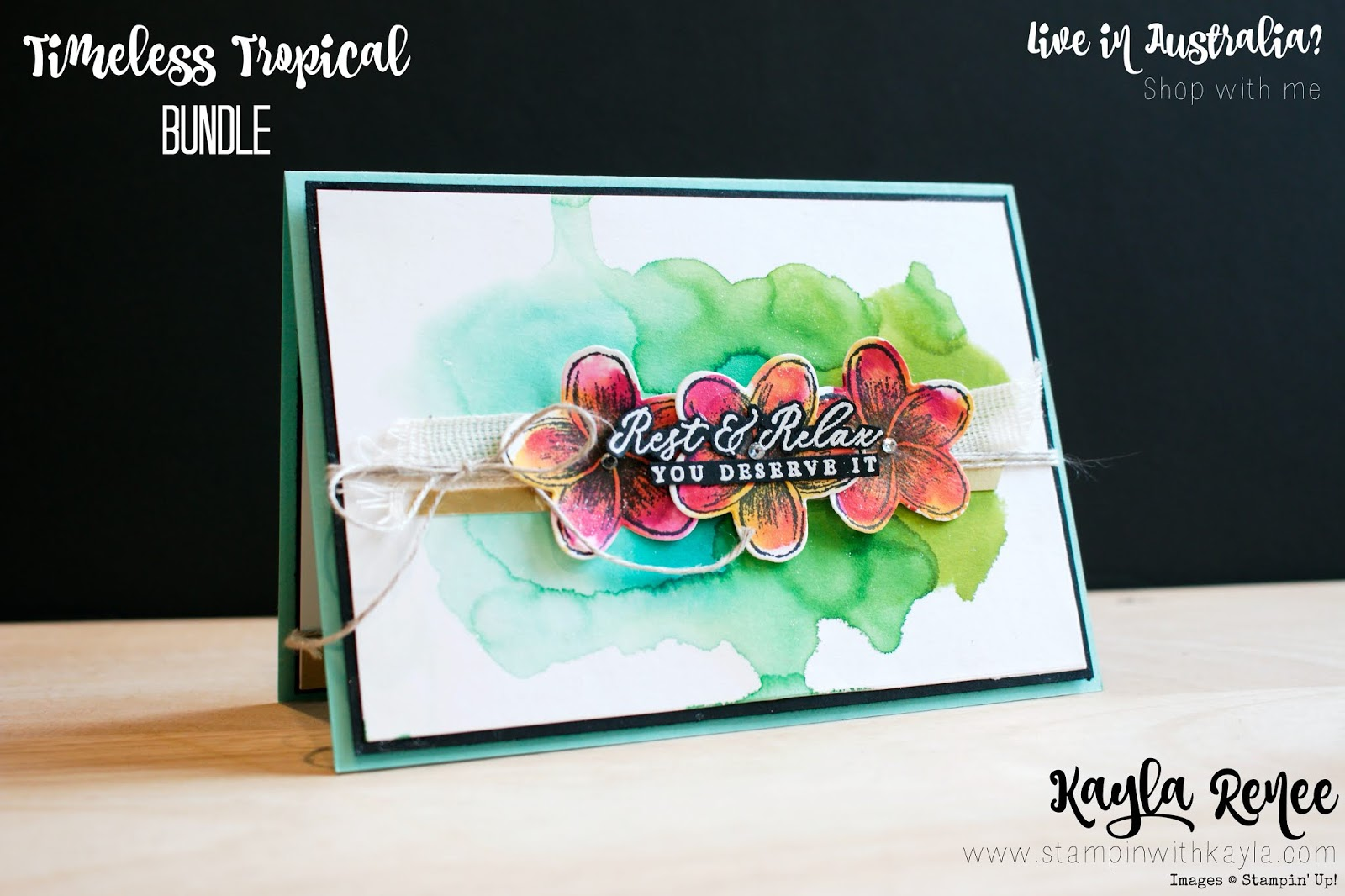 Stampin' Up! Timeless Tropical ~ Stampin' Fancy Friday ~ CASE a Fancy Friend