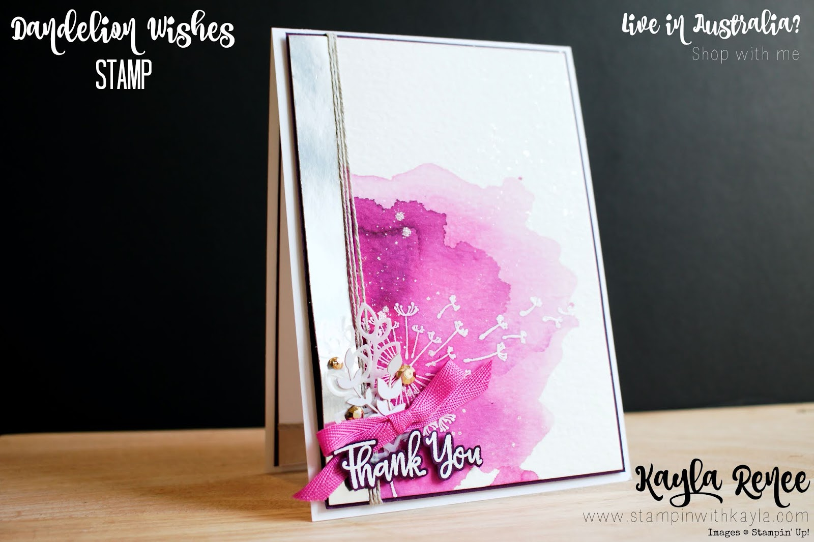 Stampin' Up! Dandelion Wishes ~ Thank You Card