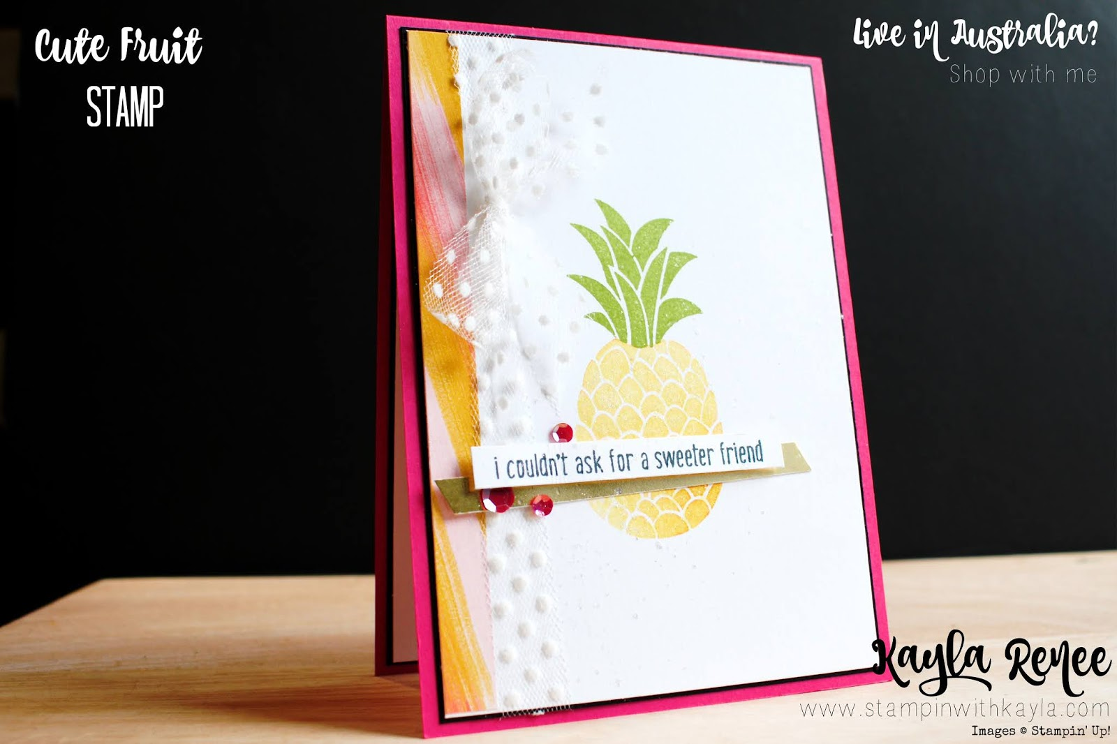 Stampin' Up! Cute Fruit ~ Papercraft New Challenge #382
