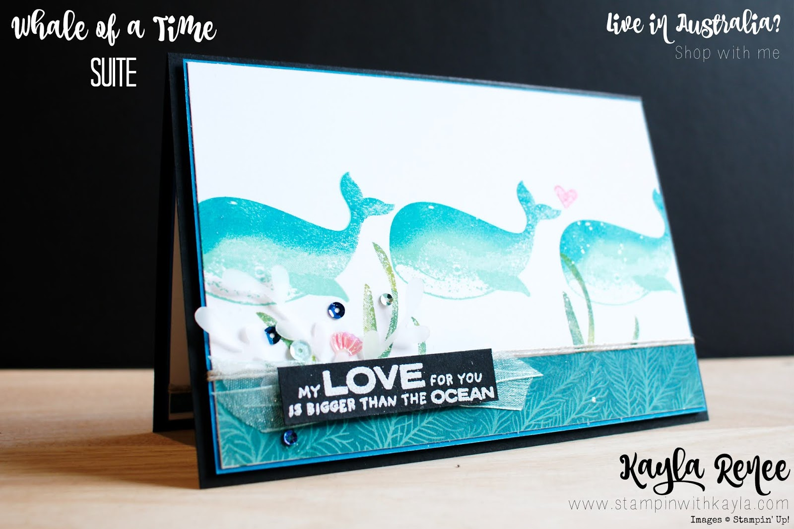 Stampin' Up! Whale of a Time ~ IIBH Blog Hop ~ Stamparatus Technique