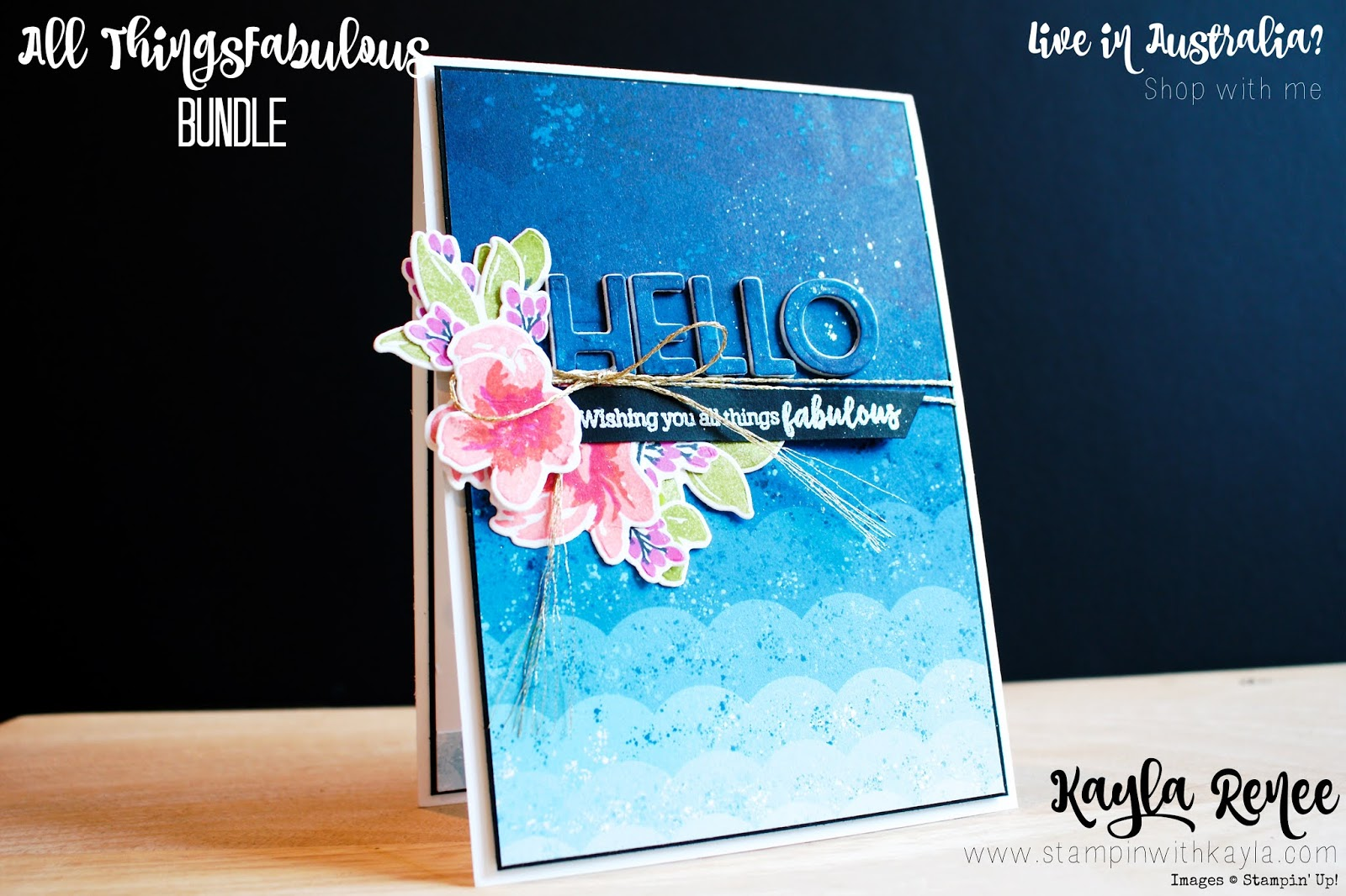Stampin' Up! All Things Fabulous ~ Hello Card