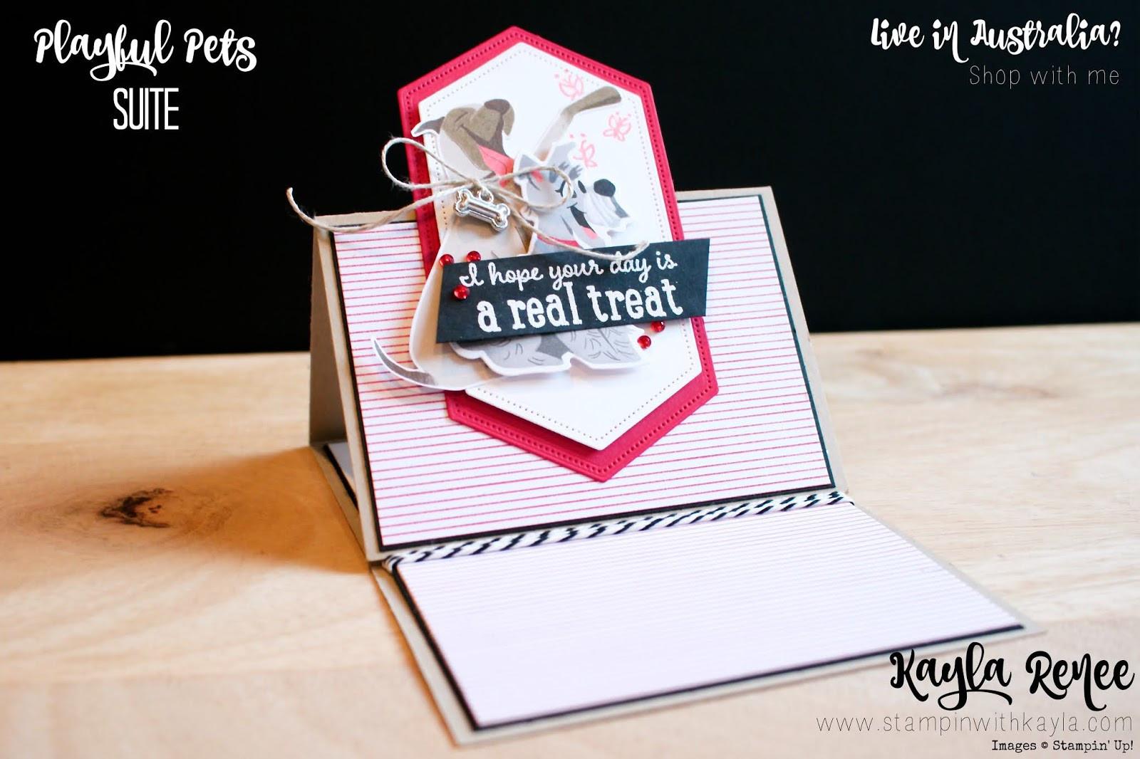 Stampin' Up! Playful Pets Suite ~ Easel Fold Birthday Card
