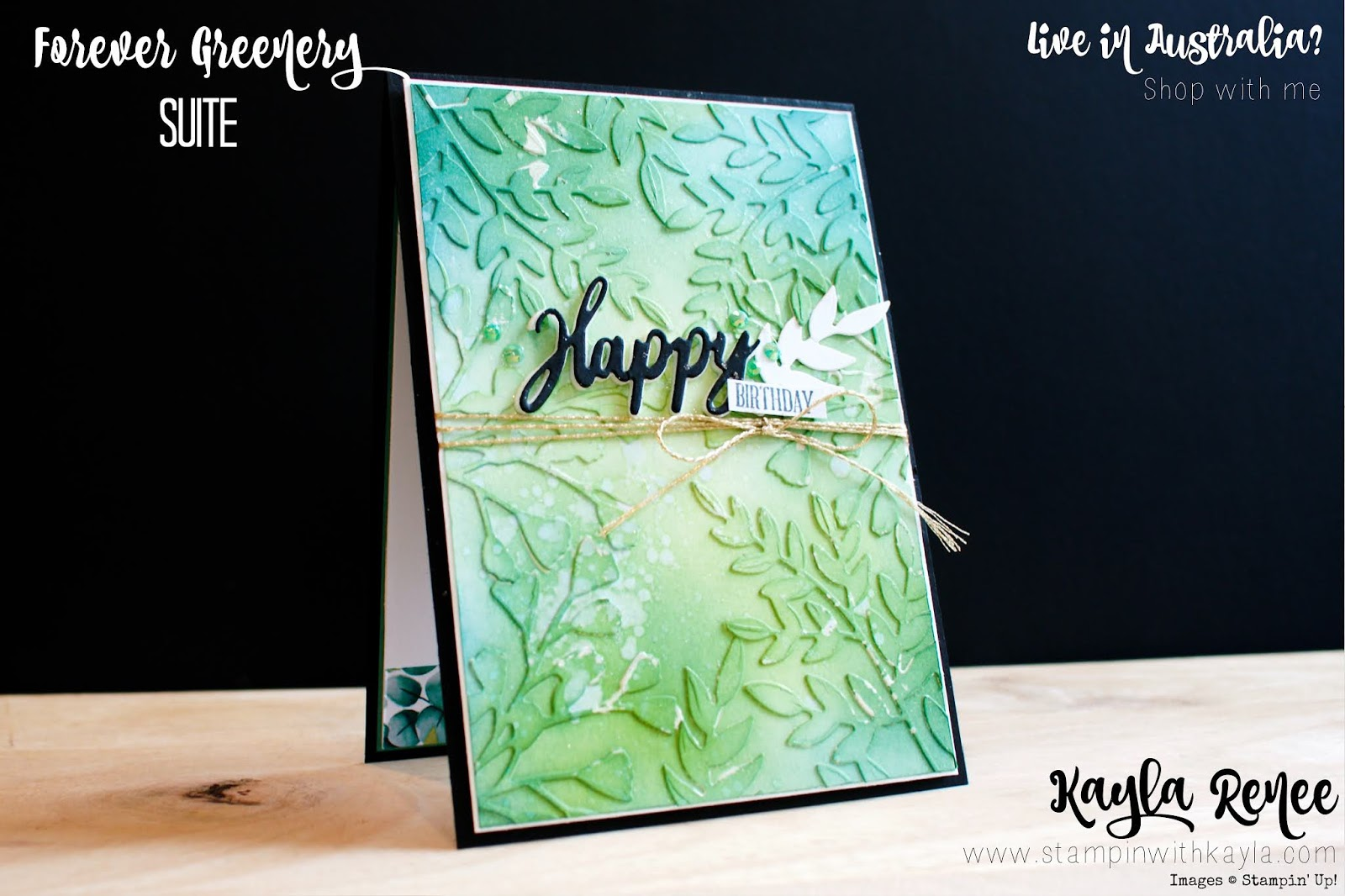 Stampin' Up! Forever Greenery ~ Happy Birthday Card