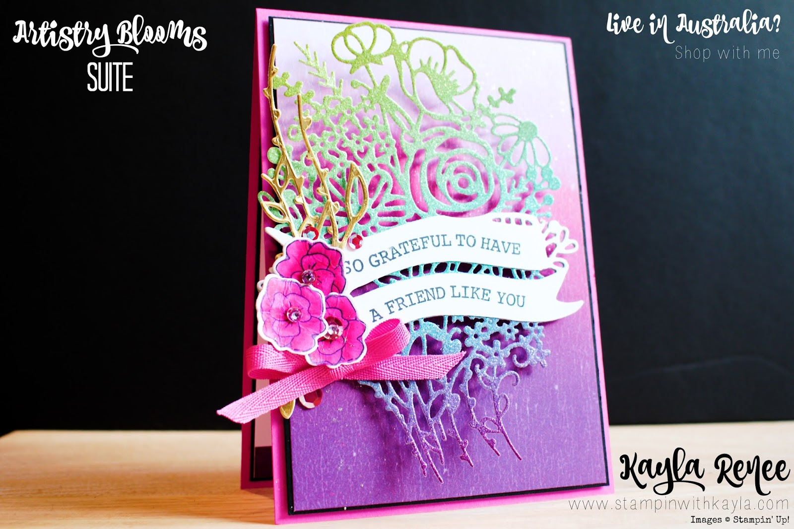 Stampin' Up! Artistry Blooms ~ Stampin' Fancy Friday Friendship Card