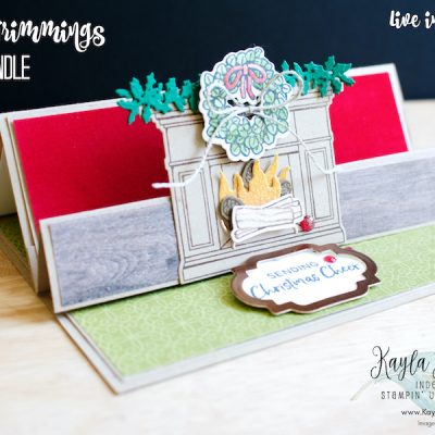 Stampin' Up! Fireside Trimmings ~ Fun Fold Card
